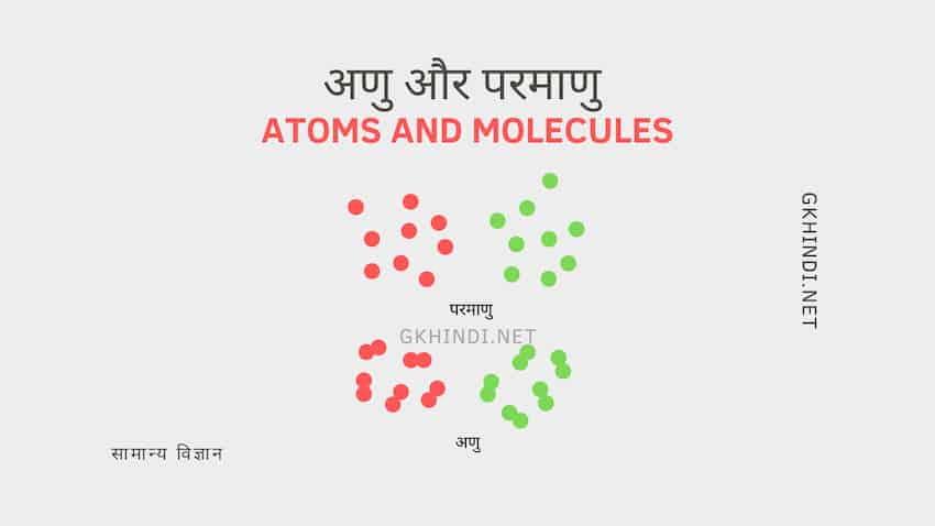 अणु और परमाणु